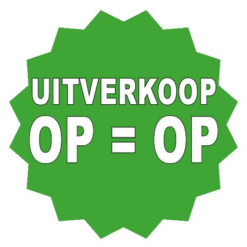 Uitverkoop sticker 16-ster groen