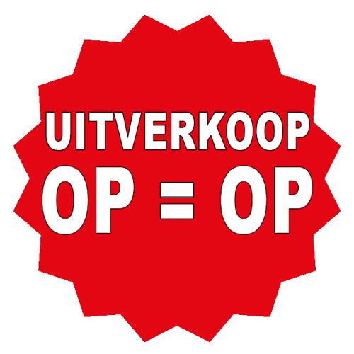 Uitverkoop sticker 16-ster rood