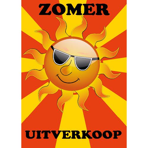 zomer uitverkoop WPZ005 geel - oranje zon met bril