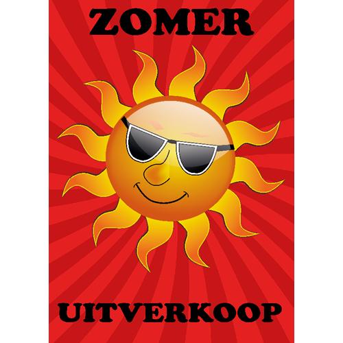 zomer uitverkoop WPZ005 rood - oranje zon met bril