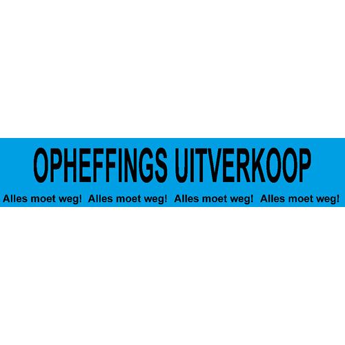 banner opheffings uitverkoop - alles moet weg WPO004 blauw