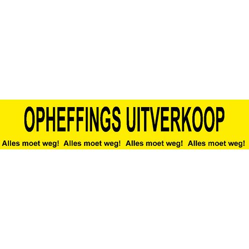 banner opheffings uitverkoop - alles moet weg WPO004 geel