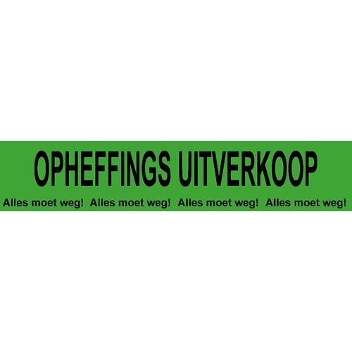 banner opheffings uitverkoop - alles moet weg WPO004 groen