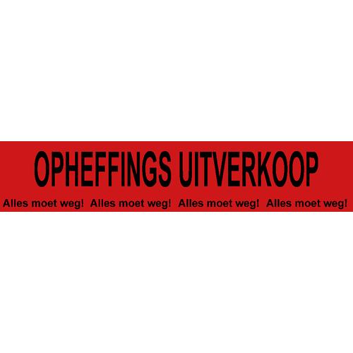 banner opheffings uitverkoop - alles moet weg WPO004 rood