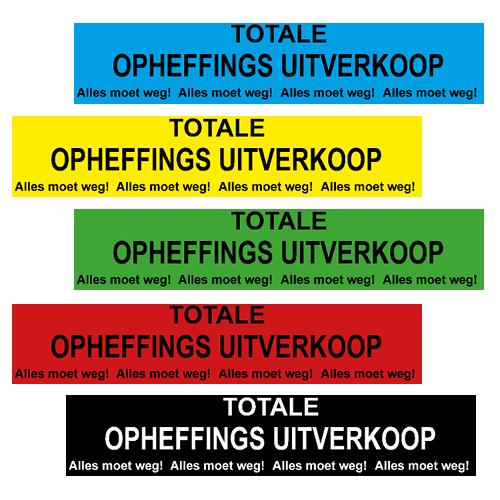 banner totale opheffings uitverkoop - WPO005 5 basiskleuren