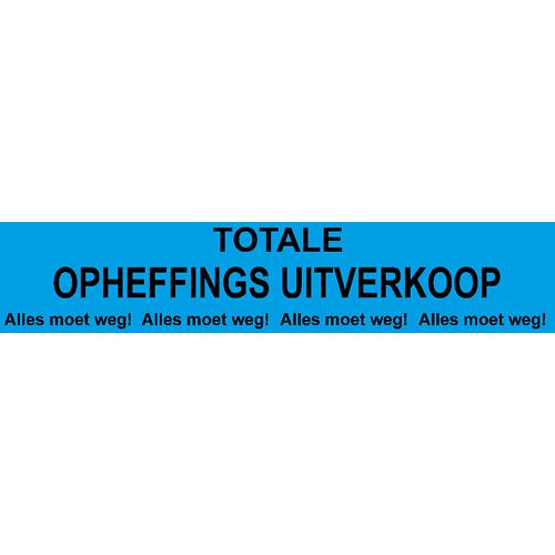 banner totale opheffings uitverkoop - WPO005 blauw