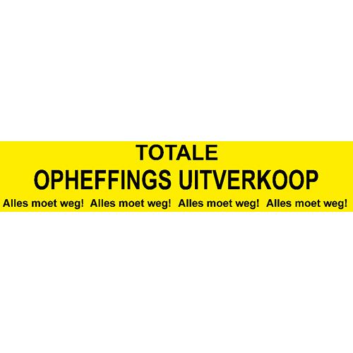 banner totale opheffings uitverkoop - WPO005 geel