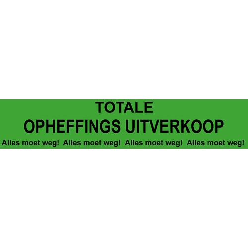 banner totale opheffings uitverkoop - WPO005 groen