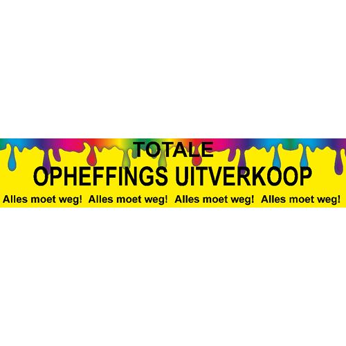 banner totale opheffings uitverkoop - WPO005 multicolor