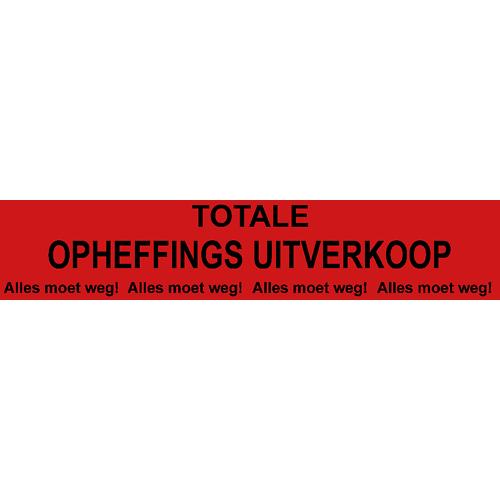 banner totale opheffings uitverkoop - WPO005 rood