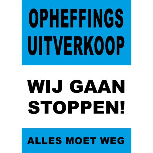 poster wij gaan stoppen - WPO006 blauw