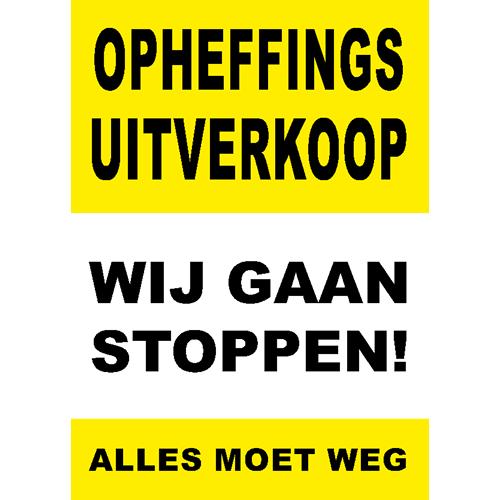 poster wij gaan stoppen - WPO006 geel