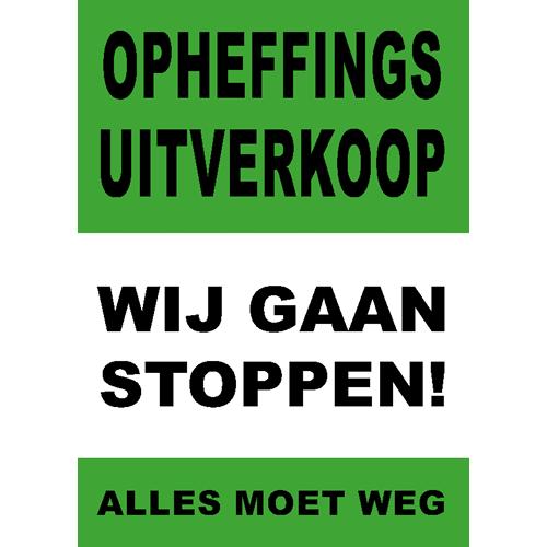 poster wij gaan stoppen - WPO006 groen