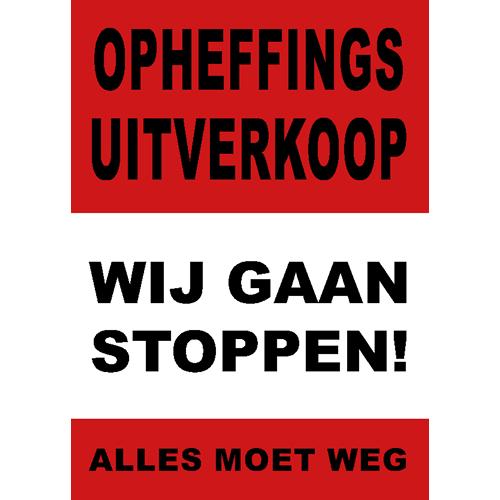 poster wij gaan stoppen - WPO006 rood