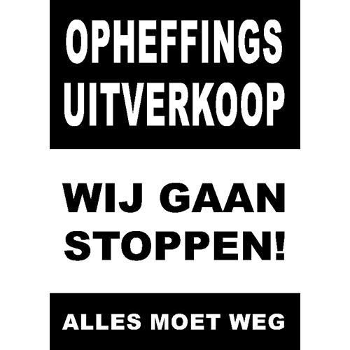 poster wij gaan stoppen - WPO006 zwart